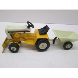 129 CUB CADET, WITH FRONT BLADE & TRAILER, MINT NO BOX